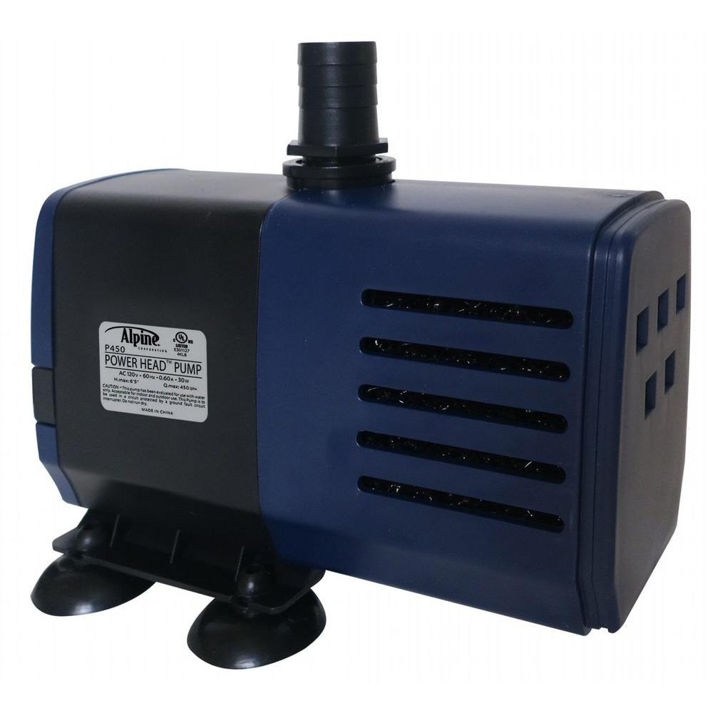 Alpine power head pump 450 gph 16 ft cord p450 the home for Pond accessories