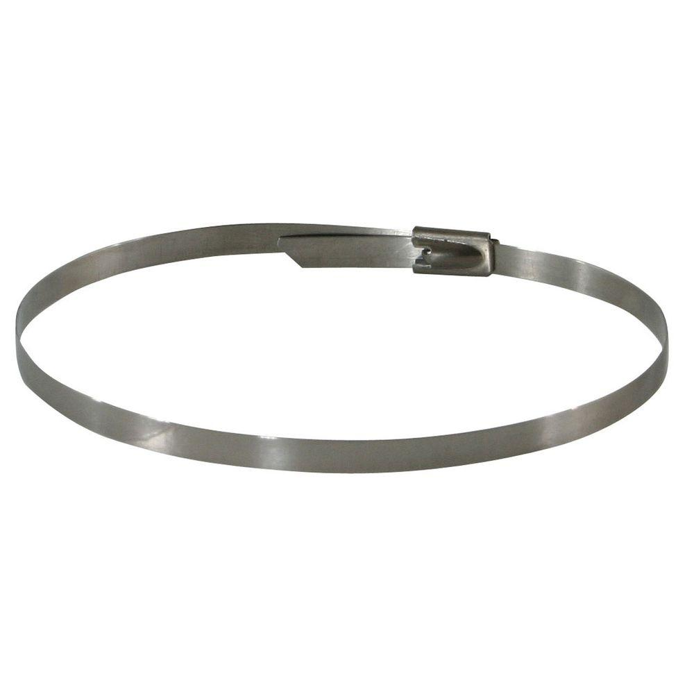 null 250-Piece Stainless Steel Cable Zip Ties