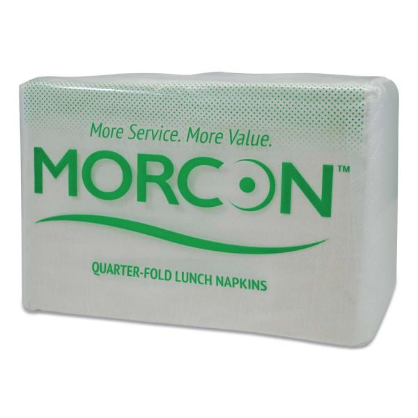 Morsoft 1/4 Fold Lunch Napkins, 1 Ply, 11.5 in. x 11.5 in., White, 6,000/Carton