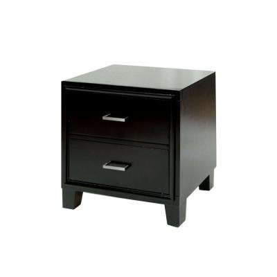 Enrico I Cherry Contemporary Style Nightstand