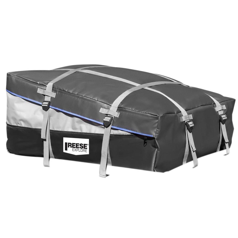 12 to 16 cu. ft. Rainproof Expandable Cargo Bag, Gray