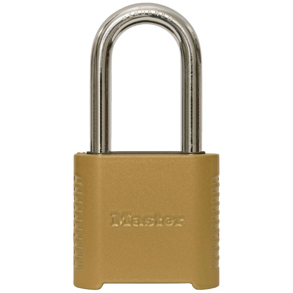 Master Lock 875DLH 2 in. Wide Zinc Set Your Own Combination Padlock with 2 in. Extra Long Shackle