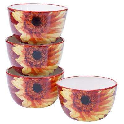 Paris Sunflower Ice Cream and Cereal Bowl (Set of 4)