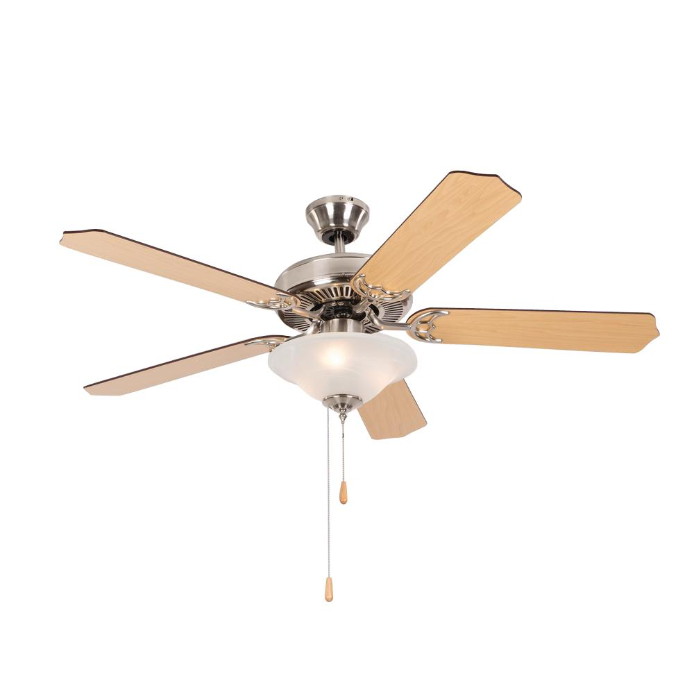 Yosemite Home Decor Westfield 52 In Indoor Bright Brush Nickel Ceiling Fan Westfield Bbn 1