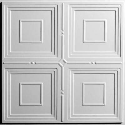 Jackson White 2 ft. x 2 ft. Lay-in or Glue-up Ceiling Panel (Case of 6)
