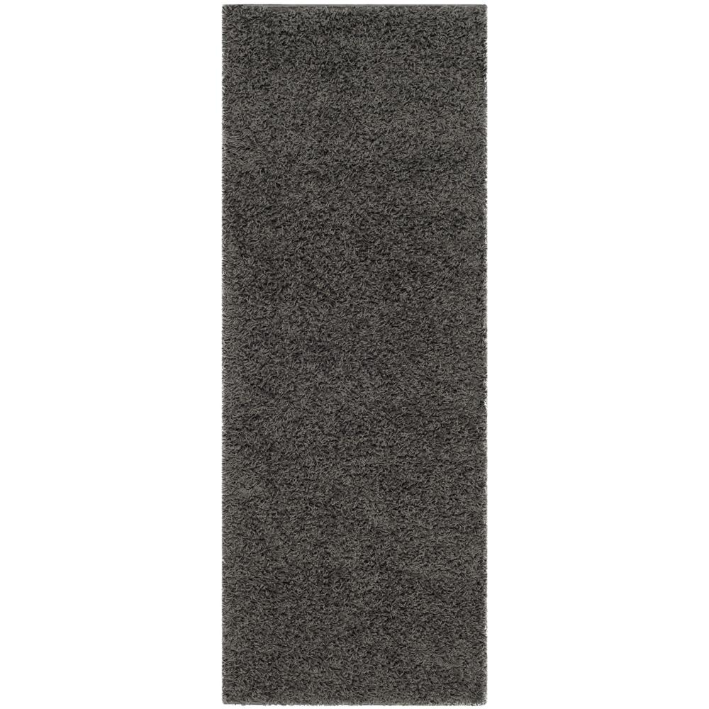 Safavieh Athens Shag Dark Gray 2 ft. x 6 ft. Runner Rug