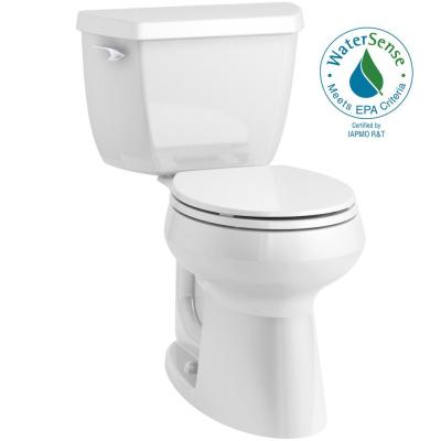 Highline Classic Complete Solution 2-piece 1.28 GPF Single Flush Round-Front Toilet in White, Seat Included (3-Pack)