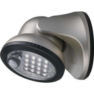 100-Degree Silver Motion Activated Integrated LED Outdoor Wireless Flood Light