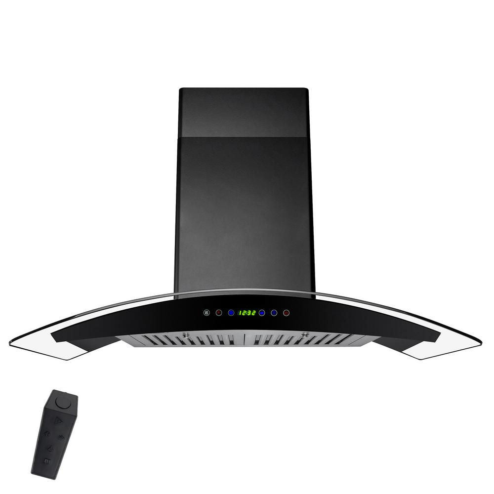 wall mount range hood akdy 30 in convertible wall mount range in black 11072