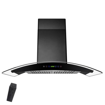 AKDY  AWR68S330BK 30u0022 Wall Mount Ducted Range Hood with 760 CFM Motor  3 Speed Fan Levels  Touch Control Panel