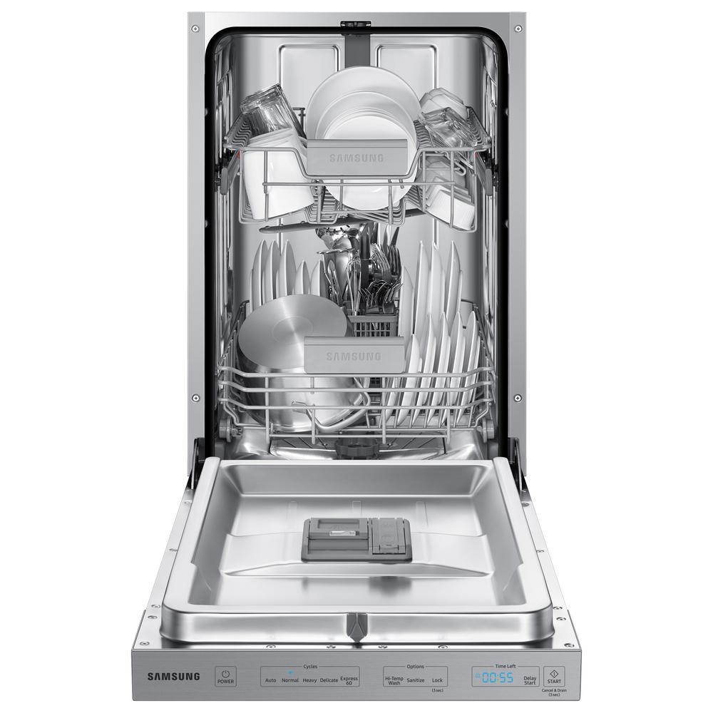 18 in. Top Control Dishwasher in Fingerprint Resistant Stainless, AutoRelease Door Drying, 46 dBA
