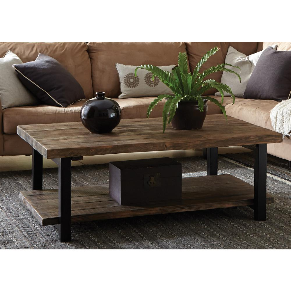 Superior Alaterre Furniture Pomona Rustic Natural Coffee Table