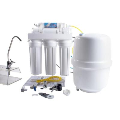 5-Stage Under-Sink Reverse Osmosis Water Filtration System - 100 GPD