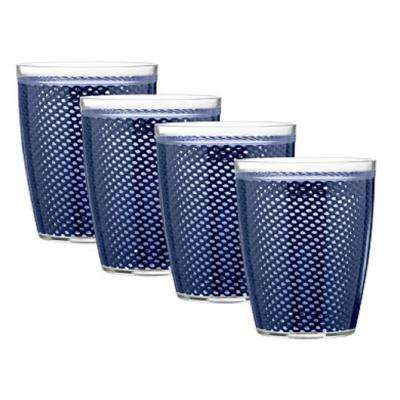 Fishnet 14 oz. Navy Insulated Drinkware (Set of 4)