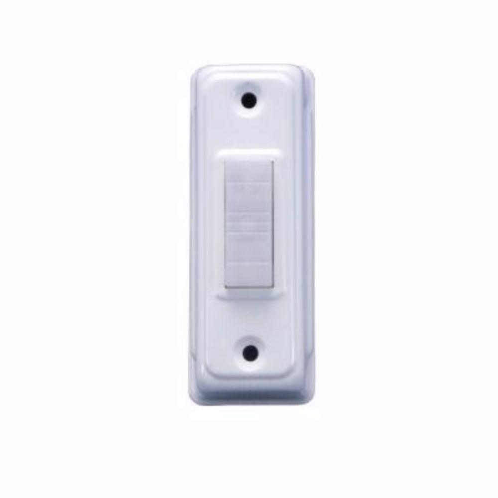 iq america wired lighted door bell push button deco white. Black Bedroom Furniture Sets. Home Design Ideas