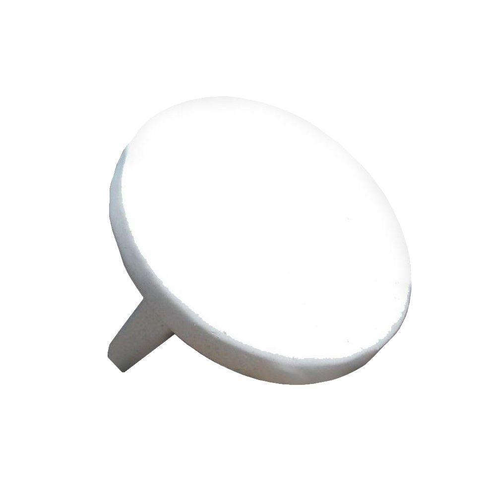 1.9 in. Aluminum Round ADA Handrail White Endcap