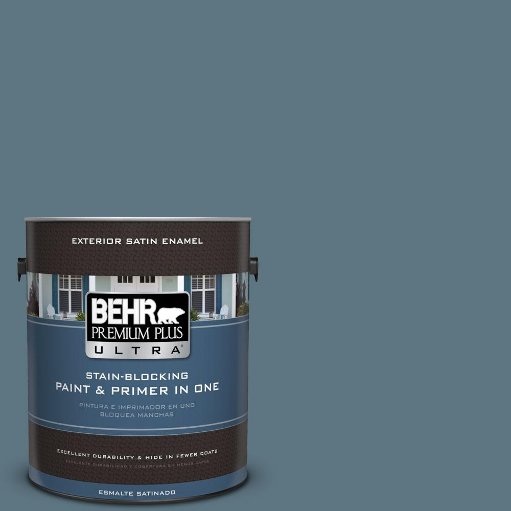 BEHR Premium Plus Ultra 1-gal. #530F-6 Heron Satin Enamel Exterior Paint