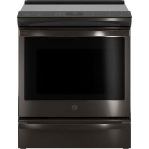 Profile 5.3 cu. ft. Smart Slide-in Electric Range with Self Cleaning Convection Oven in Black Stainless Steel