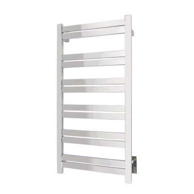 Elevate Grande 12-Bar Hardwire Electric Towel Warmer in Polished Stainless Steel