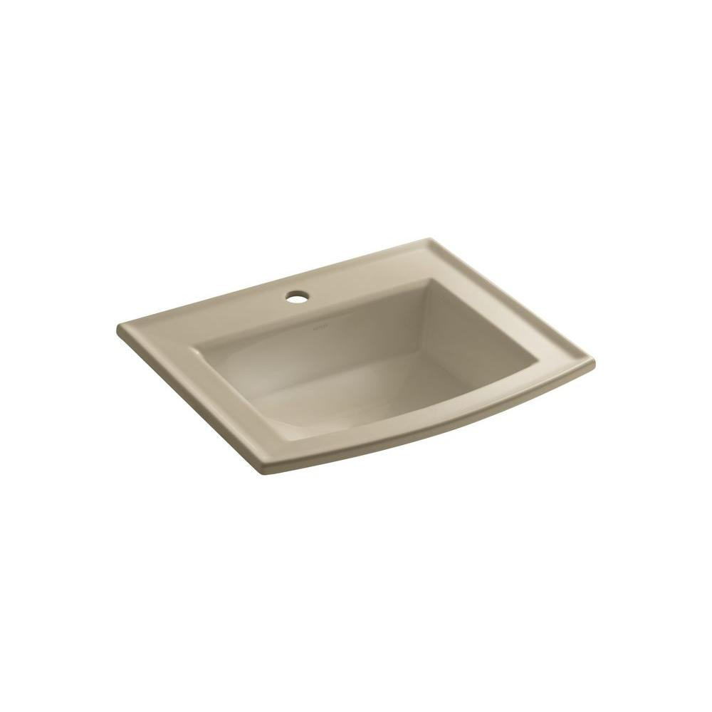 Kohler Archer Drop-In Vitreous China Bathroom Sink in Mex...