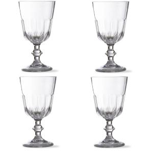 4-Pack Tag Acrylic Goblet Set