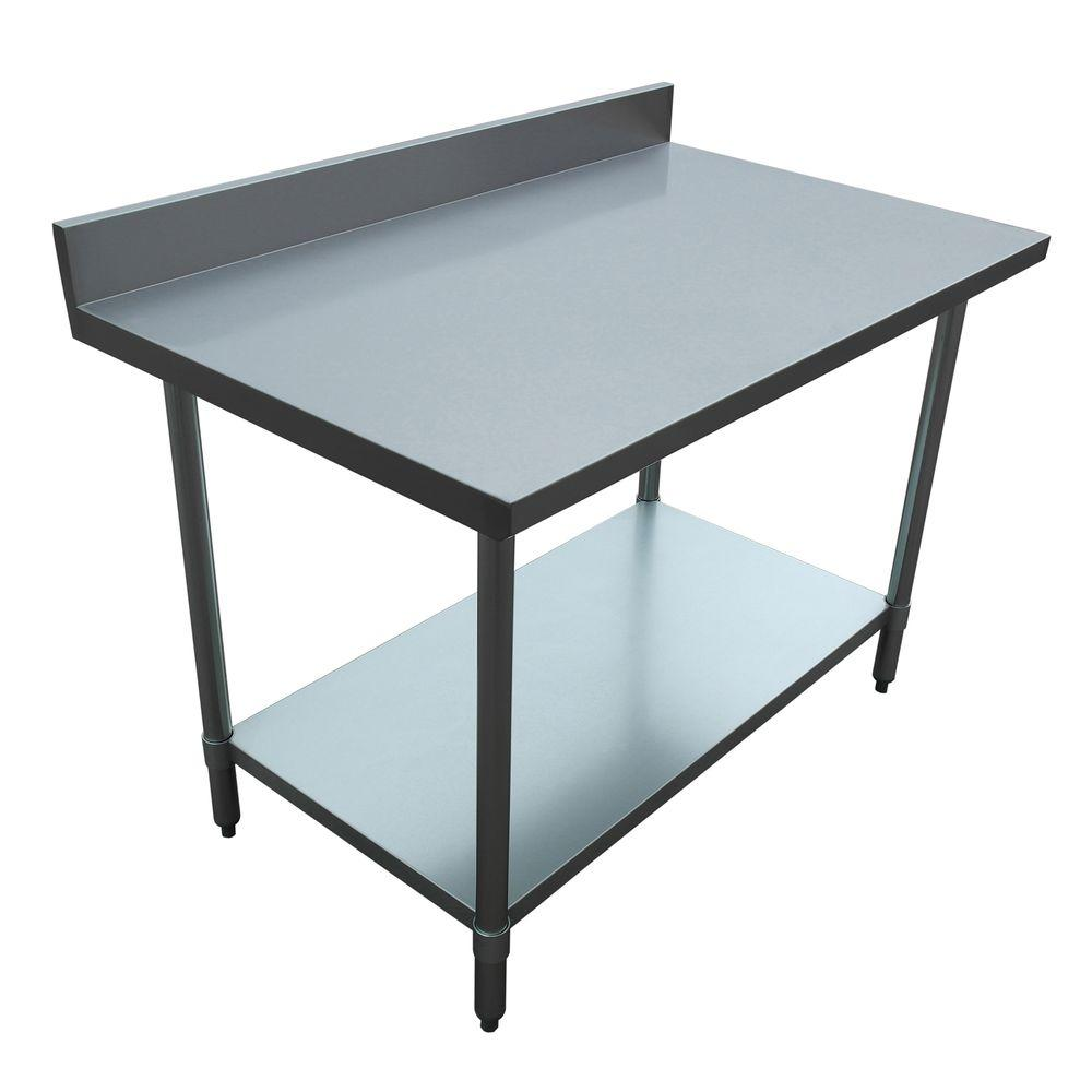 Excalibur Stainless Steel (Silver) Kitchen Utility Table ...