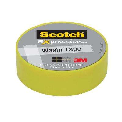 Scotch 0.59 in. x 10.9 yds. Pastel Green Expressions Washi Tape (Case of 36)