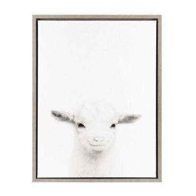 "Sylvie ""Goat"" by Tai Prints Framed Canvas Wall Art"