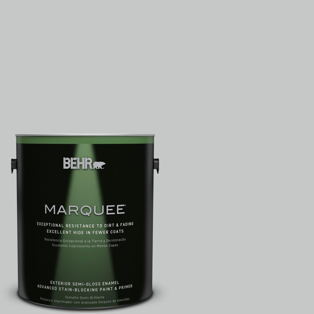 1-gal. #BNC-07 Frosted Silver Semi-Gloss Enamel Exterior Paint