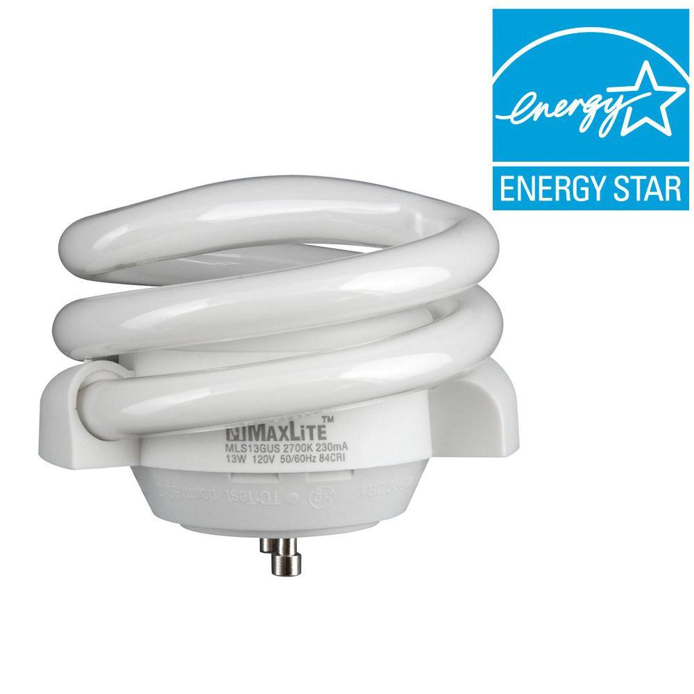 Progress Lighting 60W Equivalent Soft White (2700K) Spiral CFL Light Bulb-DISCONTINUED