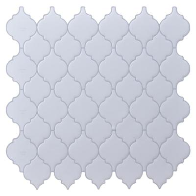 Arabesque 12 in. x 12in. x 0.06 in. White Peel and Stick Backspalsh Tiles for Kitchen (10 tiles/pack)