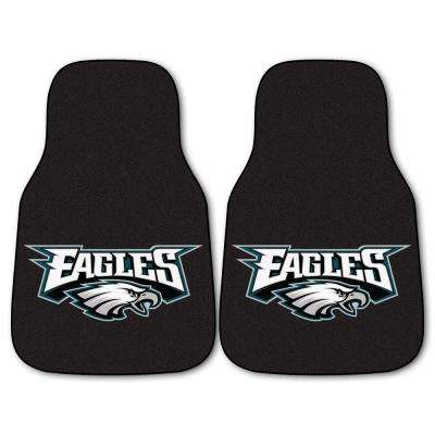 Philadelphia Eagles 18 in. x 27 in. 2-Piece Carpeted Car Mat Set