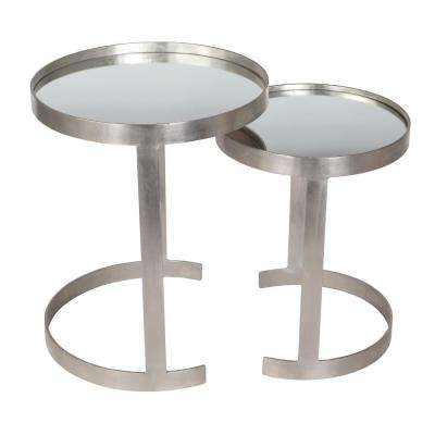 Redondo Collection Silver Nest Table Set (2-Piece)