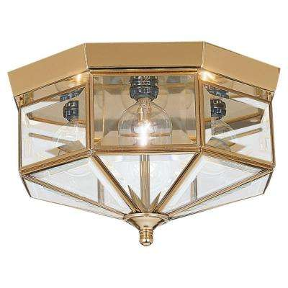 Grandover 4-Light Polished Brass Flushmount