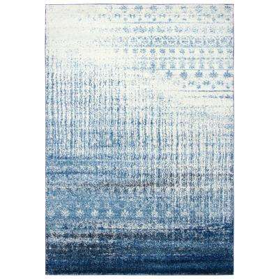 Encore Blue/Ivory 8 ft. x 10 ft. Rectangle Area Rug
