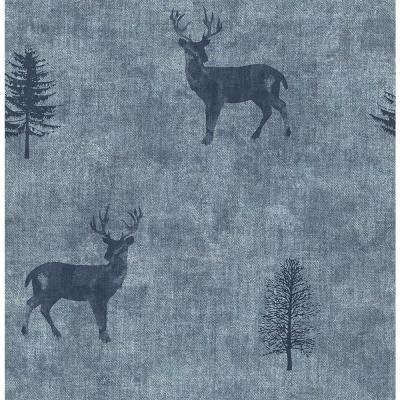 56.4 sq. ft. Sugar Hill Blue Lodge Wallpaper
