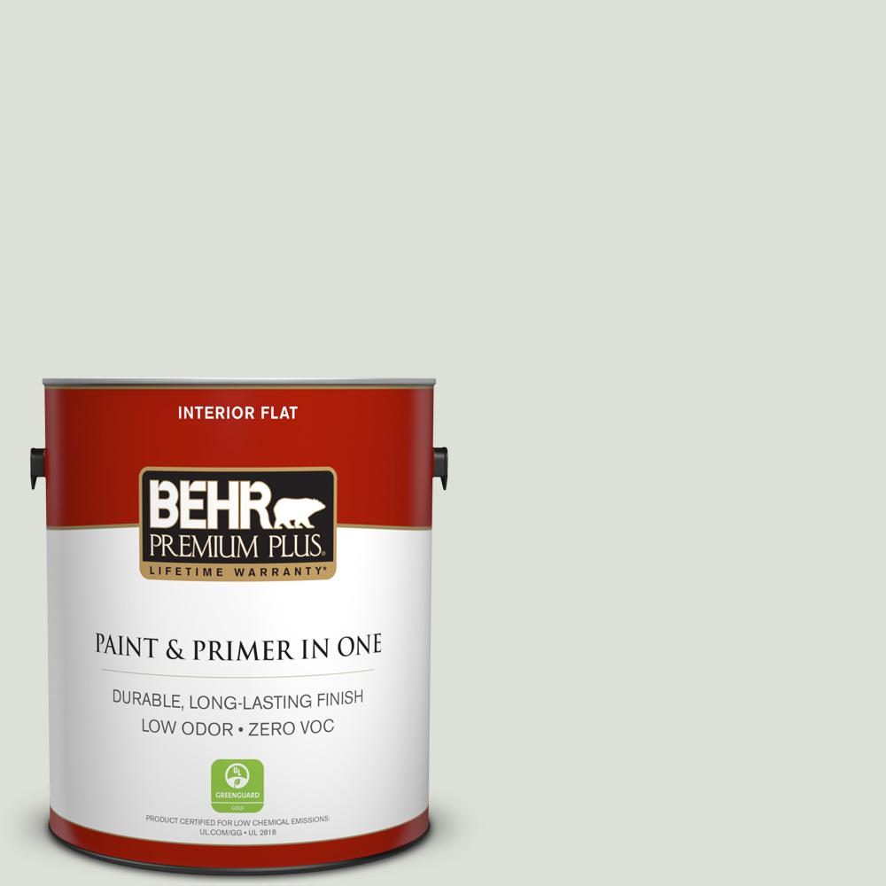 1 gal. #PPU10-12 Whitened Sage Zero VOC Flat Interior Paint
