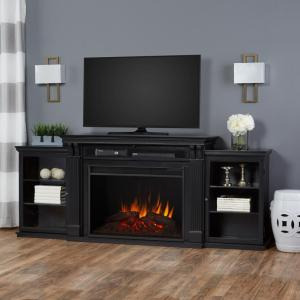 Real Flame Tracey Grand 84 inch Entertainment Center Electric Fireplace in Black by Real Flame