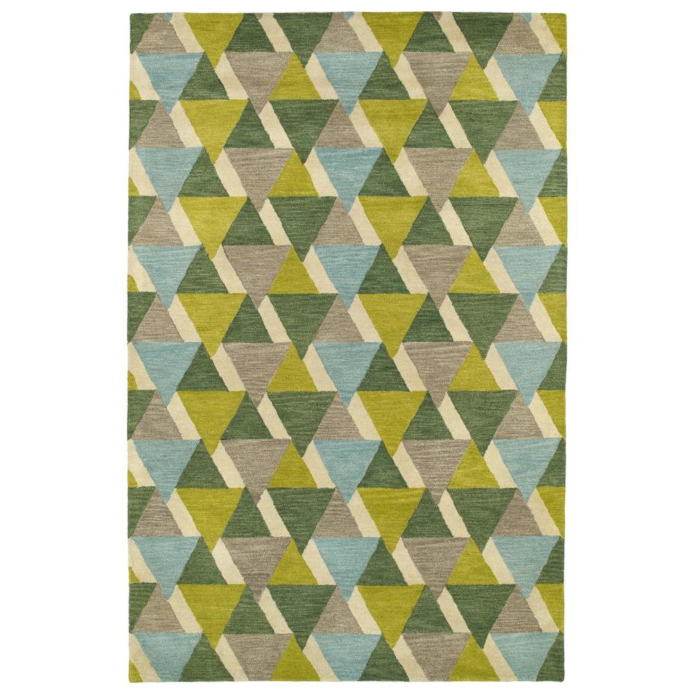 Kaleen Art Tiles Lime Green 2 Ft X 3 Area Rug