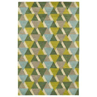 Art Tiles Lime Green 2 Ft X 3 Area Rug