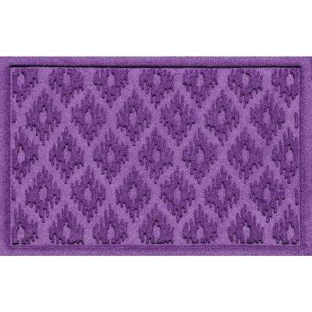 Ikat Purple 24 in. x 36 in. Polypropylene Door Mat