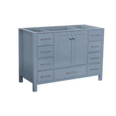 Cambridge 48 in. W Vanity Cabinet Only in Grey
