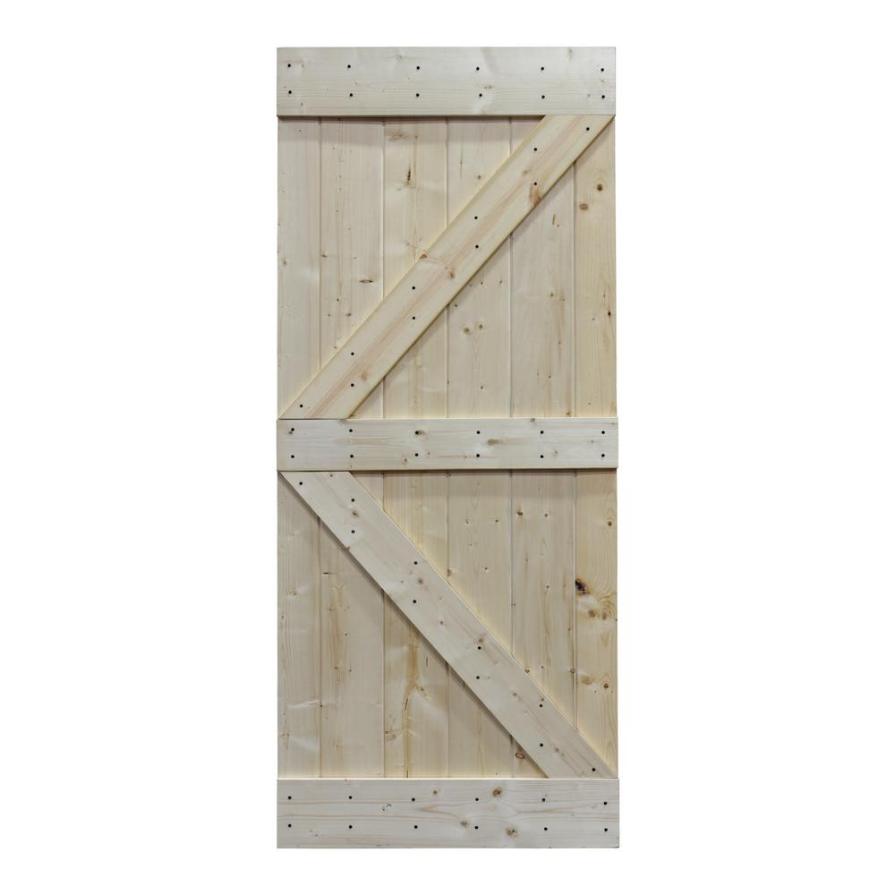 Knotty Pine Sliding Interior Barn Door Slab