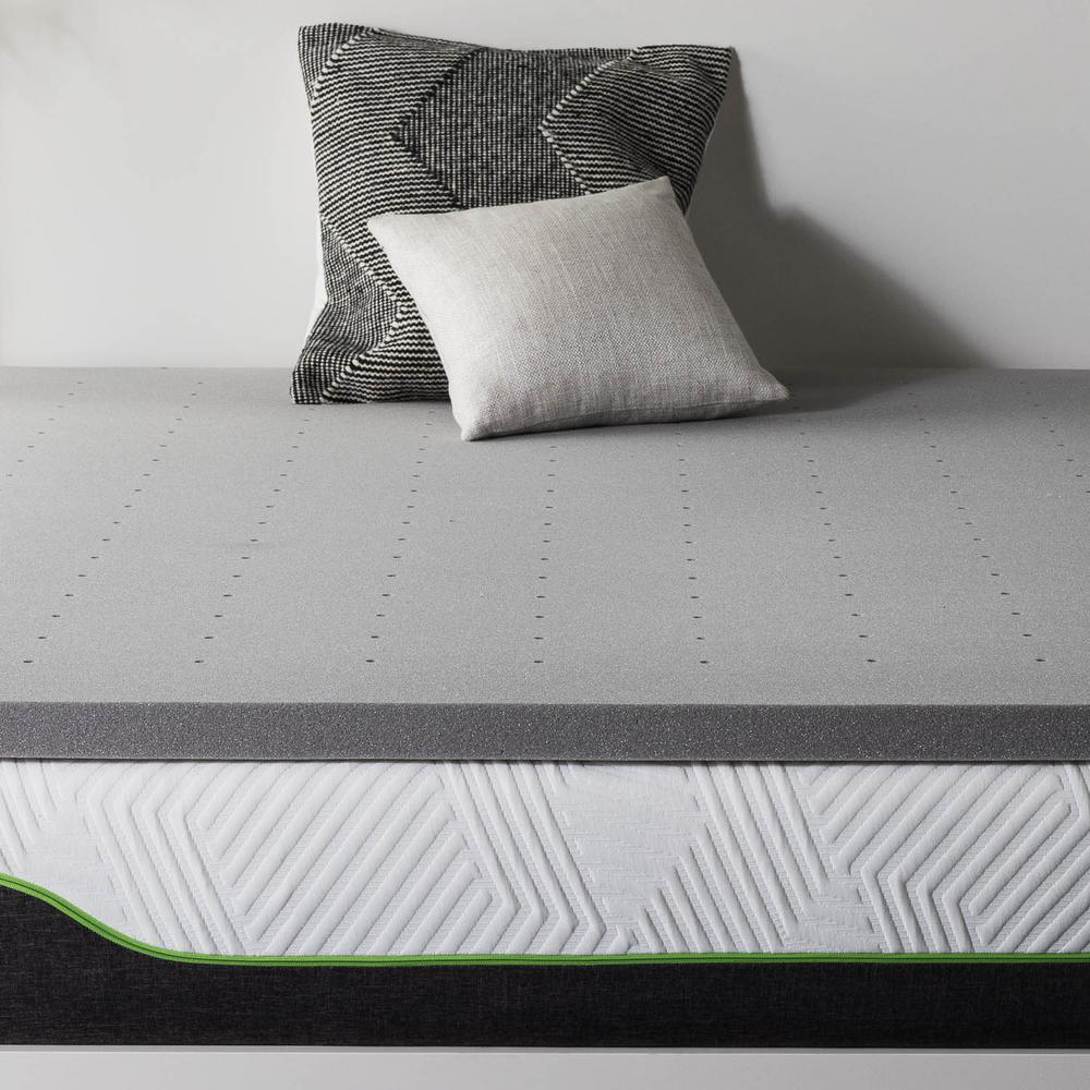 Lucid 2 In King Bamboo Charcoal Memory Foam Mattress
