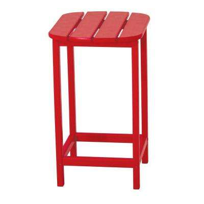 South Beach 26 in. Sunset Red Patio Counter Side Table