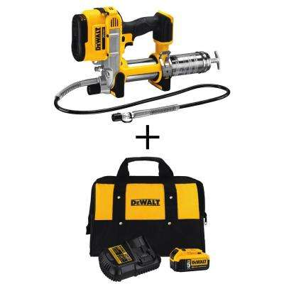 20-Volt Max Cordless Grease Gun (Tool-Only) with Bonus Battery & Charger Kit
