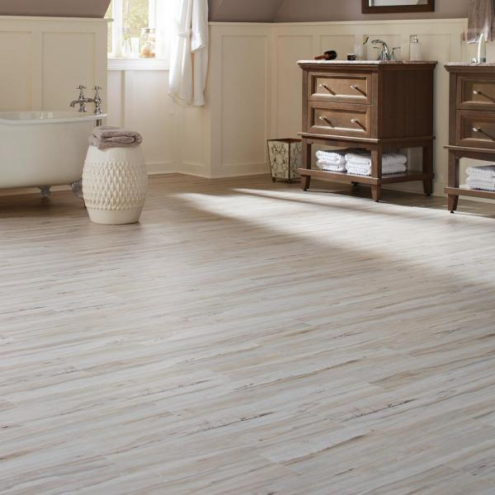 Luxury Vinyl Plank Flooring, White Maple Laminate Flooring