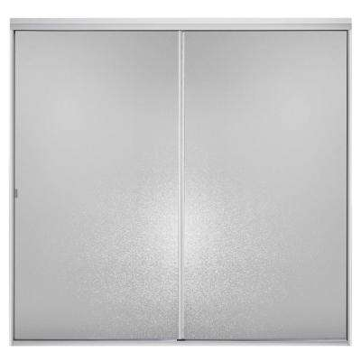 Standard 59 in. x 56-7/16 in. Framed Sliding Tub/Shower Door in Silver with Handle