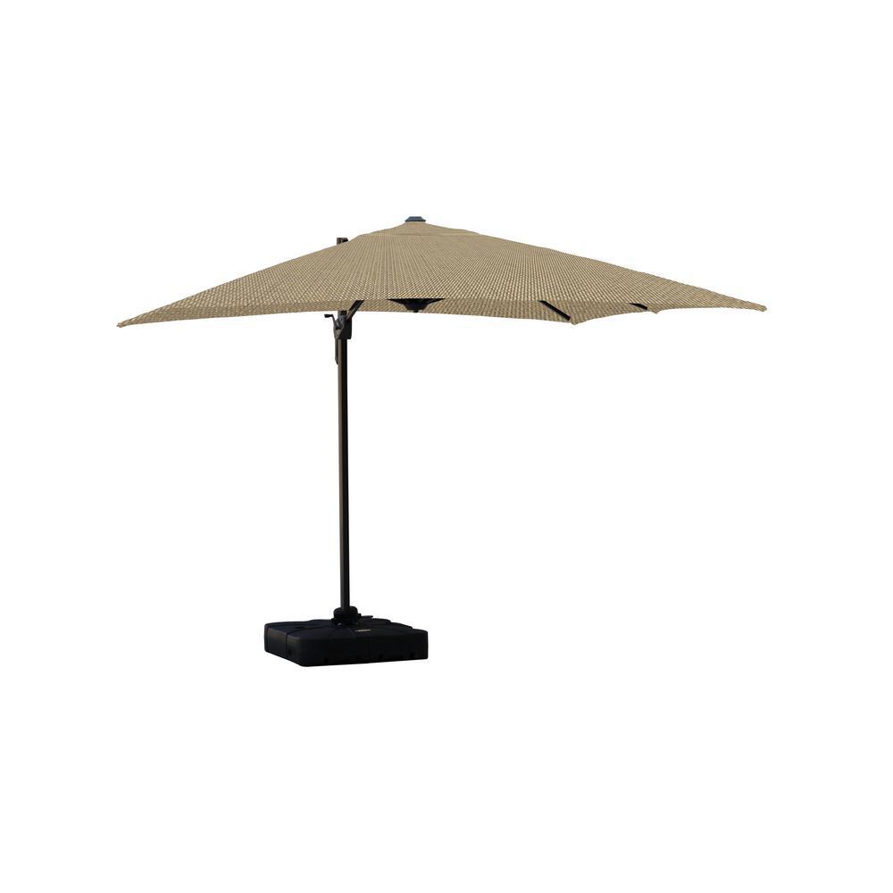 Isola 10 ft. Cantilever Square Parasol Patio Umbrella in Sunbrella Fabric Spectrum Mushroom