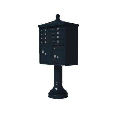 Vital 1570 8 Mailboxes 2 Parcel Lockers 1 Outgoing Pedestal Mount Cluster Box Unit